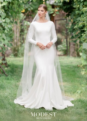 Modest Bridal By Mon Cheri Tr11988 On Back Wedding Gown