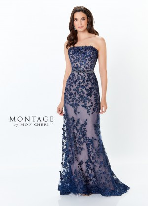 Montage by Mon Cheri 118961 Strapless Evening Dress with Shrug