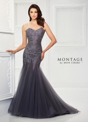 Montage by Mon Cheri 118964 Trumpet-Style Evening Dress