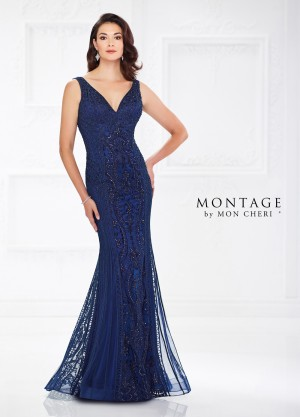 Montage by Mon Cheri 118975 Scoop Back Formal Dress