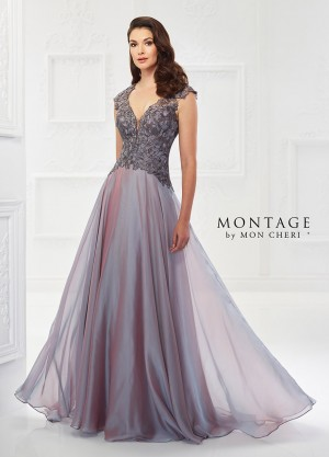 Montage by Mon Cheri 118978 Cap-Sleeve Formal Gown
