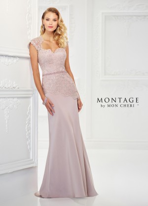 Montage by Mon Cheri 118979 Peplum Formal Gown