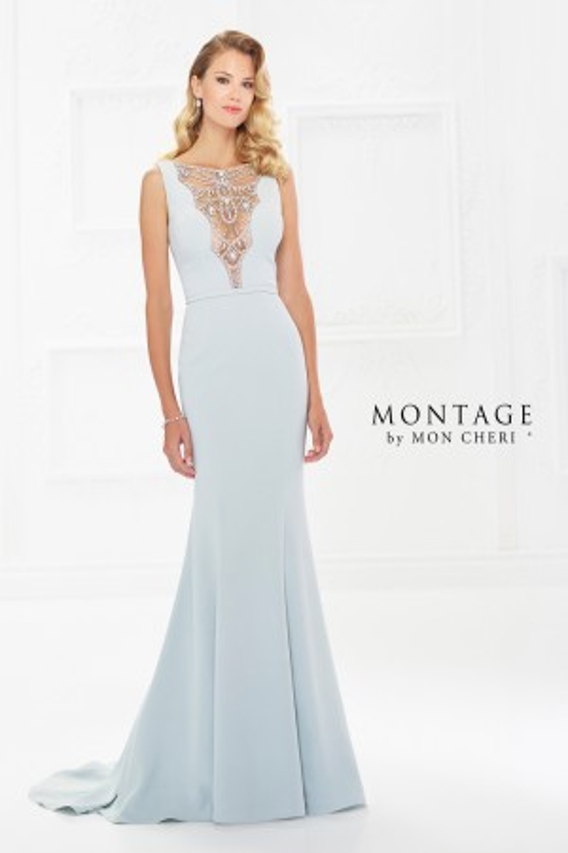 Montage by Mon Cheri 118980 Bateau-Neck Formal Gown