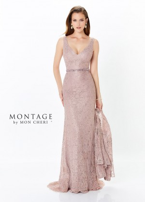 Montage By Mon Cheri 118983 V Neck Mother Of Bride Dress With Jacket