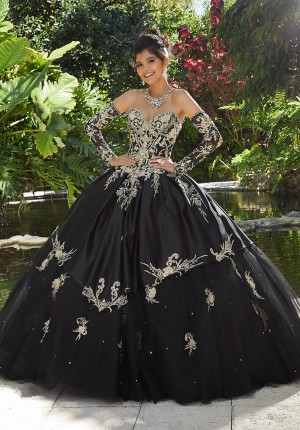 2eb219c22b Mori Lee 89248 Long Sleeve Quinceanera Gown