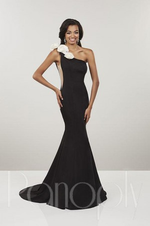 ddf386dd7d5 Panoply 14910 One Shoulder Satin Prom Dress