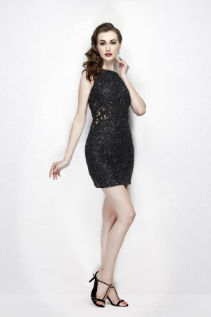 Primavera Couture 1918 V-Back Short Dress