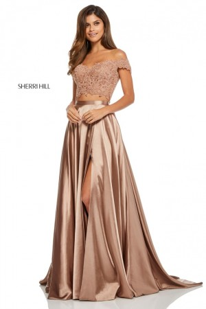 Sherri Hill 52567 Off-The-Shoulder 2 Piece Formal Dress