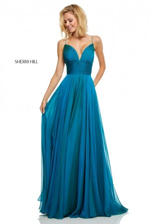 Sherri Hill 52590 Ruched Top Formal Dress