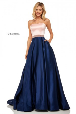 d1b117ea25 Sherri Hill 52776 Strapless Prom Dress
