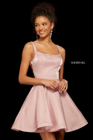 b185b9cce435 Sherri Hill 52986 Strappy Back Short Party Dress