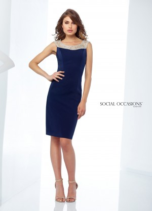 Social Occasions by Mon Cheri 118864 Scoop-Neck Evening Short Dress