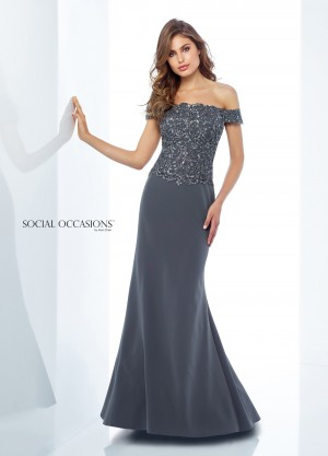 Social Occasions by Mon Cheri 118880 Formal Gown with Shawl