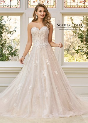 3a110847b6e Sophia Tolli Y11940 Aspen Strapless Sweetheart Neck Wedding Dress