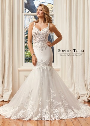 c37d2a45c88 Sophia Tolli Y11941A Nicola Cutout Back Wedding Dress