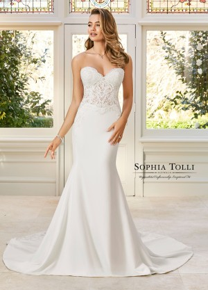 4f74ba362f3 Sophia Tolli Y11943 Brooklyn Sweetheart Neck Wedding Gown