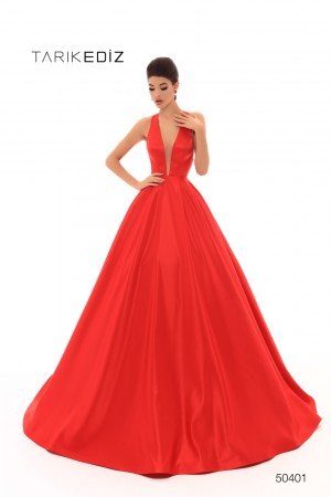 094144762cb Tarik Ediz 50401 Cross Back Prom Dress