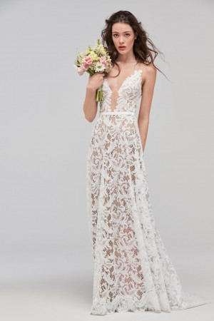 Willowby 59120 Asa Illusion Neckline Bridal Dress