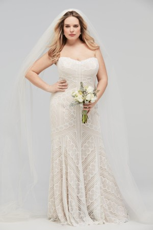 WTOO 16137P Betty V-Back Plus Size Wedding Gown