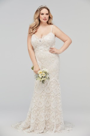 WTOO 16153B Elise Two Strap Plus Size Wedding Gown