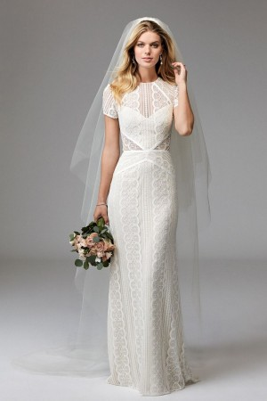 Modest wedding dresses and conservative bridal gowns wtoo 17120b lenora wedding dress junglespirit Choice Image