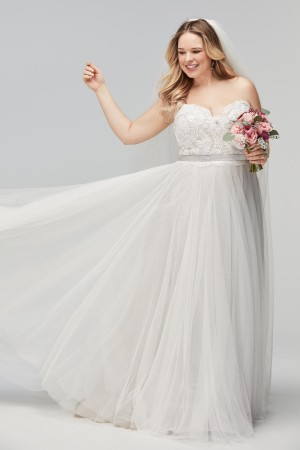 WTOO 17711B Della Strapless Plus Size Bridal Gown
