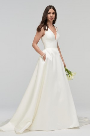 WTOO 19200 Andrina V Neckline Wedding Gown