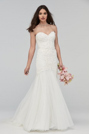 WTOO 19702 Beaumont Strapless Sweetheart Wedding Dress