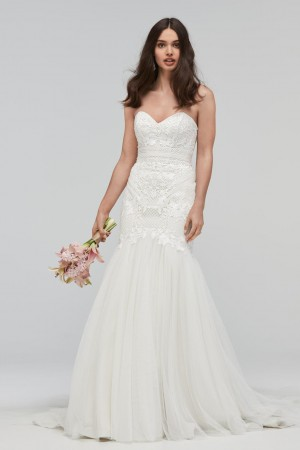 WTOO 19710 Carrion Strapless Bridal Dress