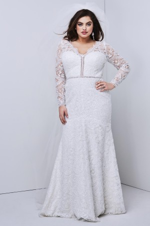 WTOO 18117B Anastasia Cutout Back Plus Size Bridal Dress
