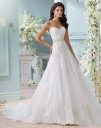 David Tutera 116210 Laina Organza Lace Sweetheart Neckline Wedding Dress