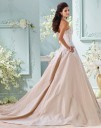 David Tutera 116217 Alleen Taffeta Embroidered Lace Bodice Wedding Dress
