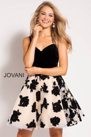 Jovani 55703 Sweetheart Neck Homecoming Dress