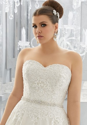 Mori Lee 11268W Wedding Belt