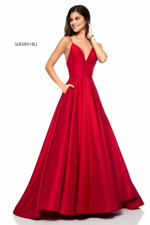 Sherri Hill 51822 Spaghetti Straps Formal Gown