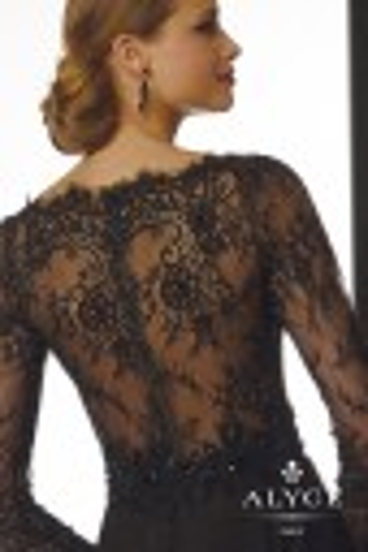 Jean De Lys 29723 Illusion Back Bateau Neck Long Sleeves