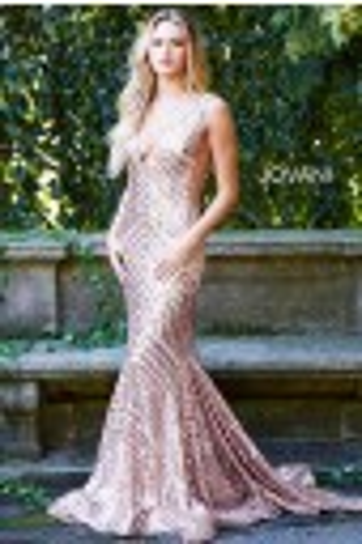 Jovani 59762 Plunging Neckline Prom Gown