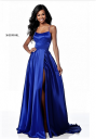 Sherri Hill 51631 Lace-Up Back Formal Gown with Slit