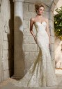 Mori Lee 2782 Wedding Dress Satin Sweetheart Neckline Fit-And-Flare