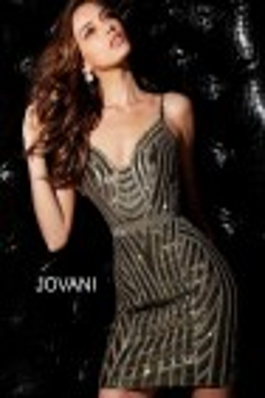 Jovani 65979 Open V-Back Short Dress