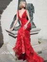 Jovani 60283 Floral Sequin Prom Dress