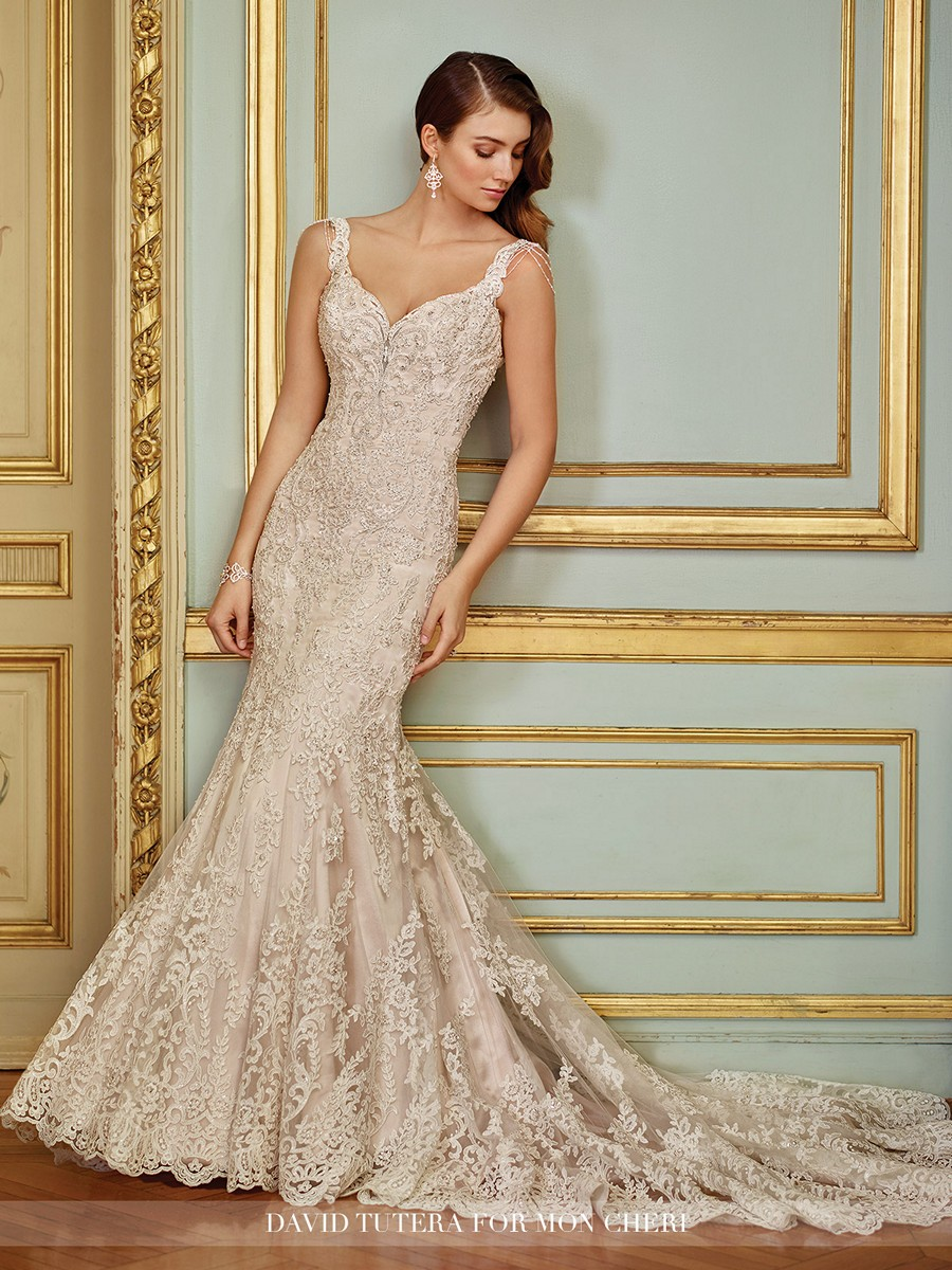 Martin thornburg for mon cheri 117288 ophira wedding gown for David tutera beach wedding dresses