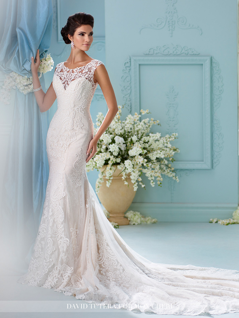 Martin thornburg for mon cheri 216242 afina wedding gown for David tutera beach wedding dresses