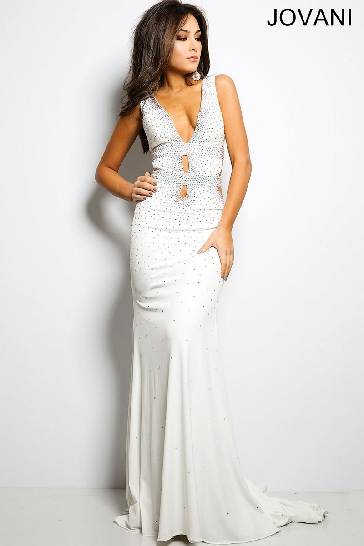 Jovani White Prom Dress