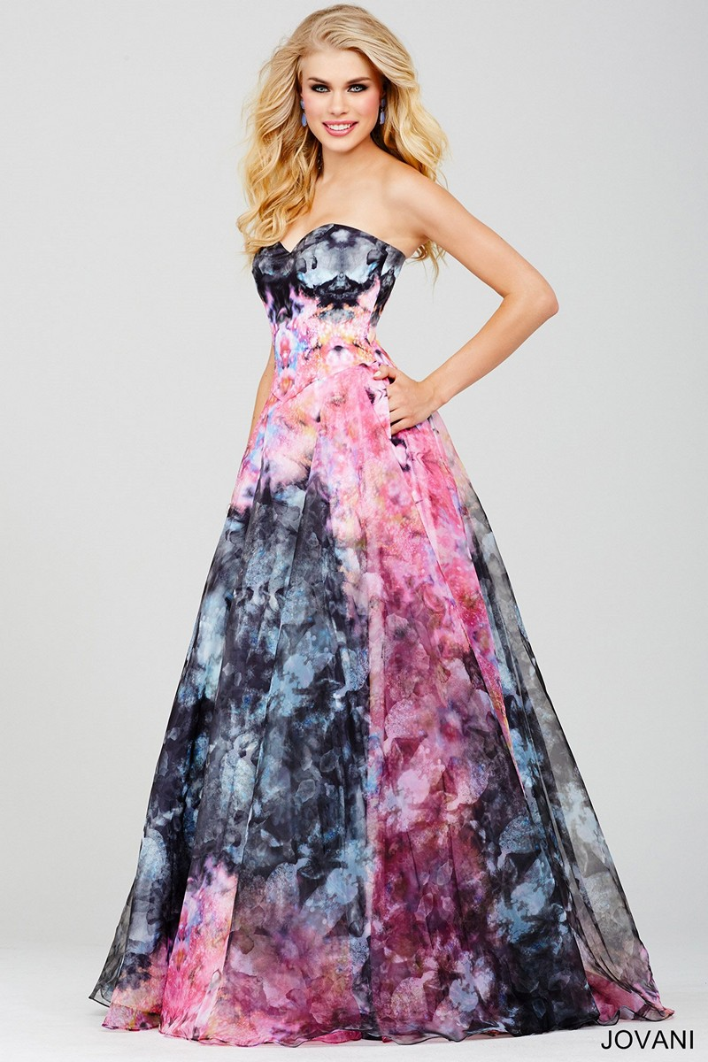 Jovani 33499 Tie Dye Prom Dress Madamebridal Com