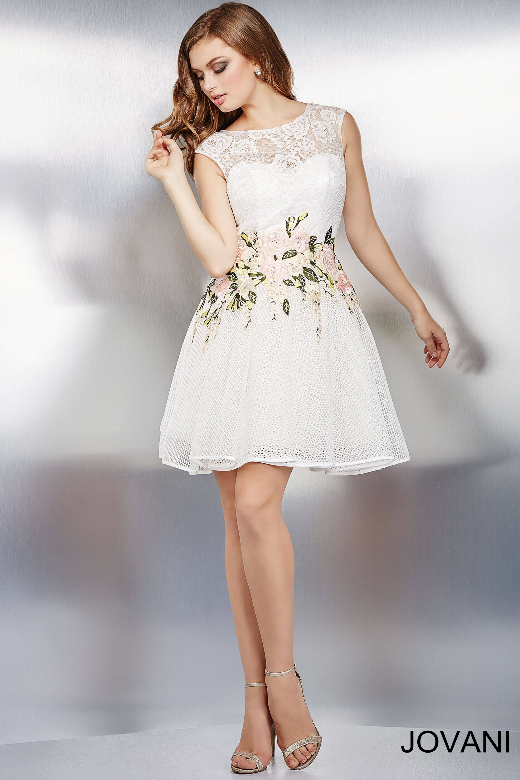 Short Mesh Dress With Illusion