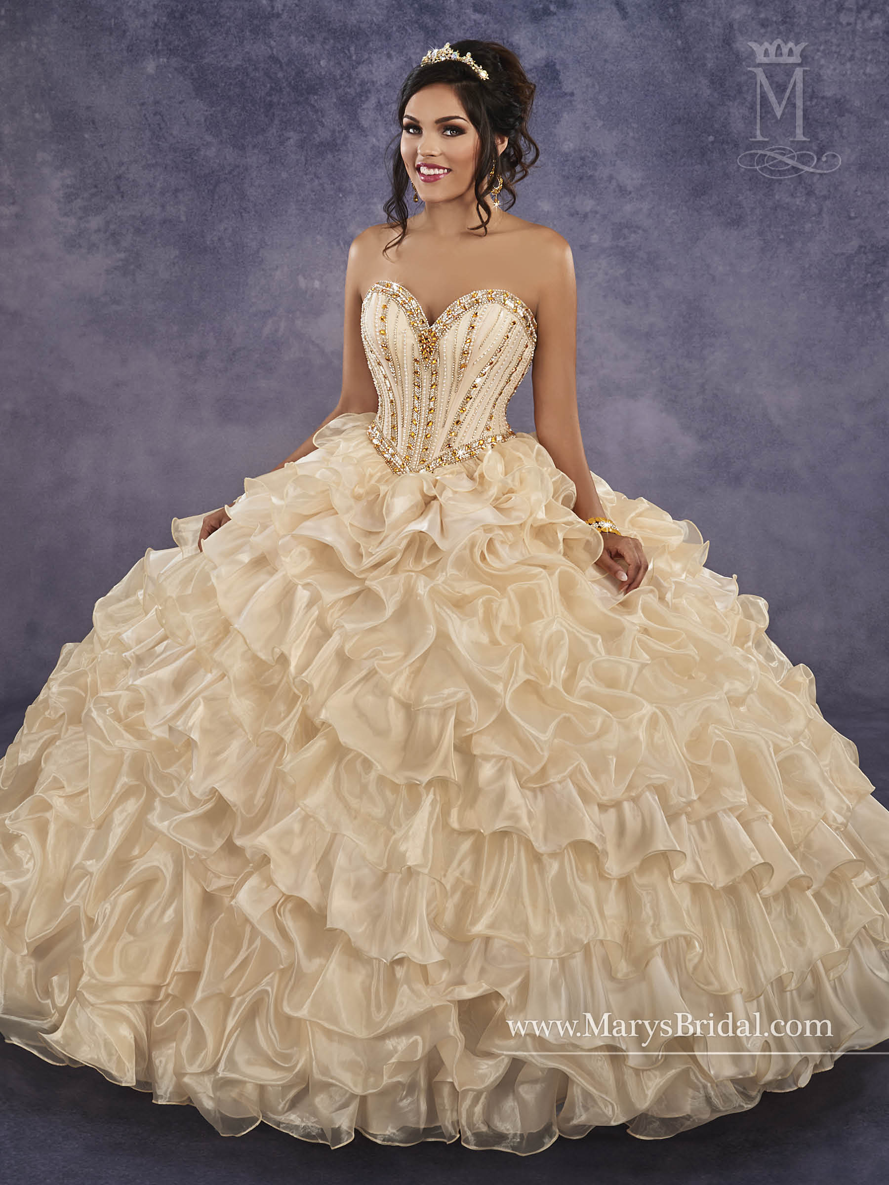 Pink and gold quinceanera dresses best photo