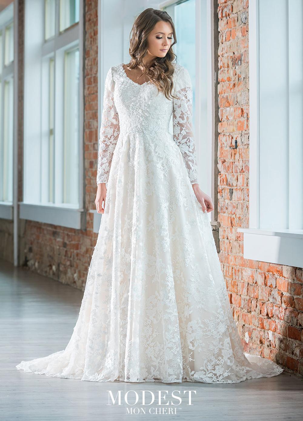 Modest Bridal by Mon Cheri TR18 Lace Bridal Gown