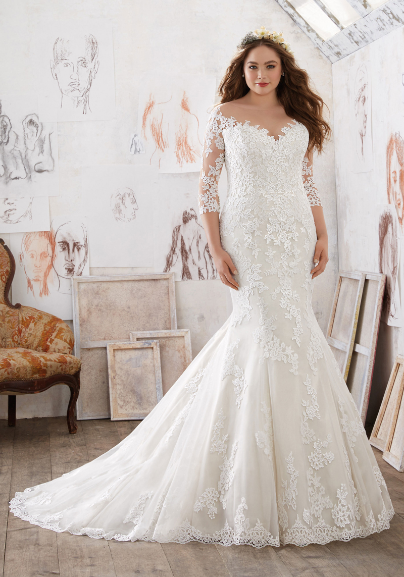 Designer plus size wedding dresses and gowns that flatter every shape