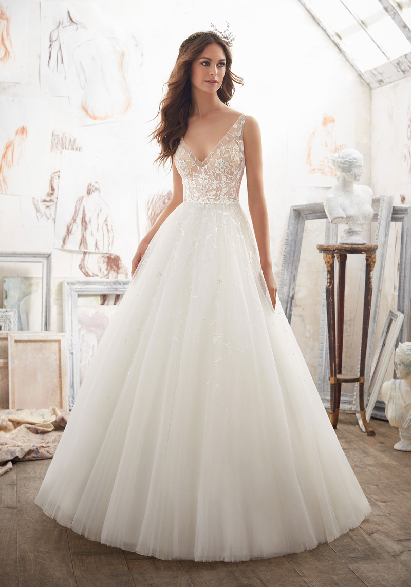 Mori lee 5515 matilda wedding dress for Mori lee wedding dresses